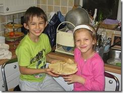 Samir and Alisa making pancakes 014