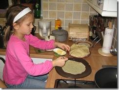 Samir and Alisa making pancakes 002