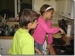 Samir and Alisa making pancakes 001