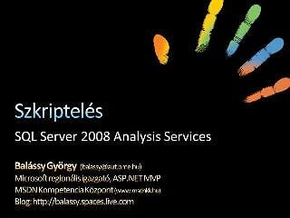 SQL Server Analysis Services szkriptelese screencast